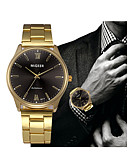 cheap Dress Watches-Men's Dress Watch Chinese Chronograph Stainless Steel Band Casual Gold / SSUO LR626
