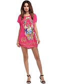 tanie T-shirt-Damskie Podstawowy Bawełna Szczupła Spodnie - Geometric Shape / Kolorowy blok Fuksja / Mini / Święto / Wyjściowe
