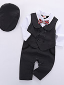 povoljno Kompletići za dječake-Dijete Dječaci Osnovni Dnevno Jednobojni Dugih rukava Regularna Komplet odjeće Crn / Dijete koje je tek prohodalo