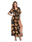 tanie Sukienki-Damskie Podstawowy Bawełna Szczupła Spodnie - Geometric Shape Czarny / W serek / Święto