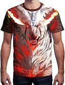 ieftine Maieu & Tricouri Bărbați-Bărbați Tricou Activ / Șic Stradă - Dungi / Bloc Culoare / Animal Imprimeu