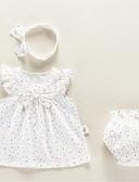 ieftine Set Îmbrăcăminte Bebeluși-Bebelus Fete De Bază Buline Fără manșon Set Îmbrăcăminte / Copil