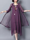 זול שמלות נשים-מותניים גבוהים מידי אחיד / פרחוני - שמלה נדן / סווינג רזה מידות גדולות מתוחכם / סגנון רחוב חגים בגדי ריקוד נשים