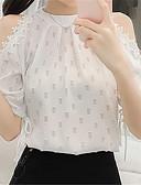tanie Bluzka-bluzka damska - jednolity okrągły dekolt