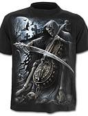 abordables Camisetas y Tops de Hombre-Hombre Calavera Exagerado Estampado Camiseta Bloques Cráneos