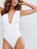 tanie Bikini i odzież kąpielowa 2017-Damskie Pasek Jednoczęściowy Solidne kolory Dół typu Cheeky