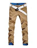 ieftine Maieu & Tricouri Bărbați-Bărbați Activ Mărime Plus Size Bumbac Zvelt Pantaloni Chinos Pantaloni Mată