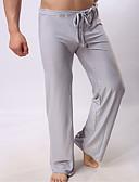 abordables Ropa Interior y Calcetines de Hombre-Hombre Normal Nailon Sexy Calzoncillos largos Un Color Media cintura