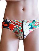 ieftine Men's Exotic Underwear-Bărbați Lenjerie - Imprimeu, Geometric / Bloc Culoare Cheeky