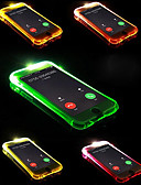 hesapli iPhone Kılıfları-Pouzdro Uyumluluk Apple iPhone X / iPhone 8 Plus / iPhone 8 LED Flaş Işığı Arka Kapak Solid Yumuşak TPU