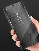 זול מגנים לטלפון-מגן עבור Huawei P smart עם מעמד / מראה כיסוי מלא אחיד קשיח עור PU