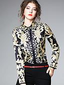 abordables Tops de Mujeres-Mujer Chic de Calle Festivos / Trabajo Estampado Camisa, Cuello Camisero Cachemir