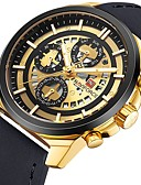 cheap Steel Band Watches-Men's Sport Watch Japanese Quartz Leather Black / Brown / Grey 30 m Water Resistant / Waterproof Calendar / date / day Chronograph Analog Luxury - Silver Black / Gold Rose Gold Two Years Battery Life