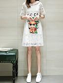 povoljno Ženske haljine-Žene Shift / Korice Haljina Jednobojni / Cvjetni print Do koljena