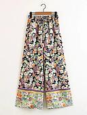 זול מכנסיים לנשים-בגדי ריקוד נשים בוהו רגל רחבה מכנסיים פרחוני / דפוסי פרחים