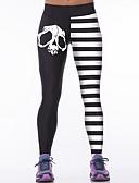 preiswerte Damen Leggings-Damen Sportlich Legging - Gestreift Hohe Taillenlinie