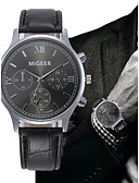 cheap Leather Band Watches-Men's Quartz Wrist Watch Chinese Chronograph Leather Band Elegant Bangle Black Brown