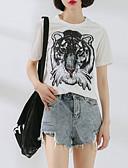 ieftine Tricou-tricou pentru femei - gât rotund pentru animale