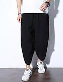 ieftine Pantaloni Bărbați si Pantaloni Scurți-Bărbați De Bază / Chinoiserie In Larg Picior Larg / Pantaloni Chinos Pantaloni - Mată Negru / Sport / Sfârșit de săptămână