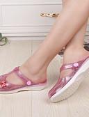 cheap Women's Fur & Faux Fur Coats-Women's Synthetic Spring & Summer Comfort Sandals Flat Heel Round Toe Sequin Gold / Silver / Pink / Color Block