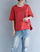 tanie T-shirt-T-shirt Damskie Podstawowy Bawełna Luźna - Solidne kolory / Lato