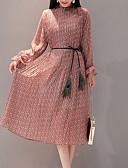 Χαμηλού Κόστους Φορέματα παράνυφων-Γυναικεία Μεγάλα Μεγέθη Λεπτό Παντελόνι Μαύρο / Στρογγυλή Ψηλή Λαιμόκοψη / Εξόδου