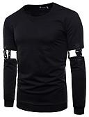 cheap Men's Hoodies & Sweatshirts-Men's Punk & Gothic Street chic Sweatshirt - Solid Colored Color Block