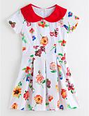 זול שמלות לבנות-שמלה שרוולים קצרים פרחוני פרחוני בנות פעוטות