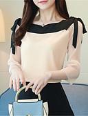 ieftine Cămașă-cămașă pentru femei - gât rotund solid colorat