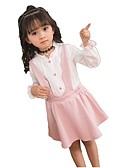 povoljno Hlače i tajice za djevojčice-Djeca Djevojčice Jednobojni Print Dugih rukava Komplet odjeće