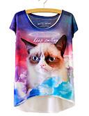 ieftine Tricou-Pentru femei Tricou Animal Imprimeu Pisica