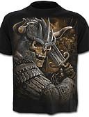 povoljno Muške majice i potkošulje-Majica s rukavima Muškarci - Lubanja pretjeran Dnevno Color block Portret Lubanje Print