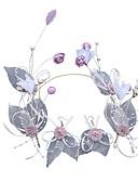 זול צעיפים אופנתיים-פּוֹלִיאֶסטֶר מצנפת עם דמוי פנינה / פרח חלק 1 חתונה / קזו'אל כיסוי ראש