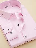 abordables Camisas de Hombre-Hombre Básico Camisa A Rayas / Geométrico / Manga Corta / Manga Larga