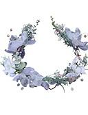 זול צעיפים אופנתיים-פּוֹלִיאֶסטֶר אביזר לשיער עם אקרילי / פרח 1pc חתונה / יום הולדת כיסוי ראש