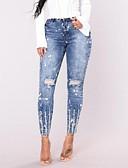 ieftine Pantaloni de Damă-Pentru femei De Bază Șic Stradă Costume Blugi Pantaloni Mată