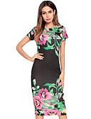 povoljno Ženske haljine-Žene Slim Korice Haljina Cvjetni print Do koljena