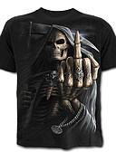 cheap Women's Nightwear-Men's Skull Exaggerated T-shirt - Color Block Portrait Skull Print