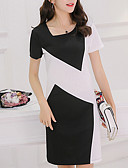 cheap Work Dresses-Women's Daily / Going out Slim Sheath Dress - Color Block / Spring