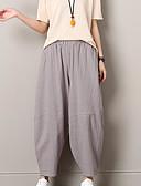 tanie Damskie spodnie-Damskie Aktywny Puszysta Bawełna Haremki Spodnie - Frędzel, Solidne kolory Czarno-biały
