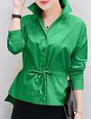 tanie Koszula-Koszula Damskie Bawełna Kołnierzyk koszuli Solidne kolory