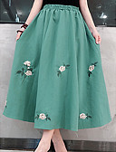 baratos Vestidos para Madrinhas-saias de linha midi uma mulher - floral