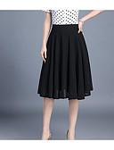 tanie Sukienki-Damskie Podstawowy Linia A Spódnice Solidne kolory