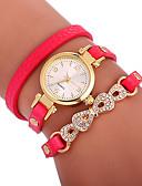 cheap Quartz Watches-Xu™ Women's Bracelet Watch Wrist Watch Quartz Creative Casual Watch Adorable PU Band Analog Butterfly Bohemian Black / White / Red - Brown Red Green One Year Battery Life / Imitation Diamond