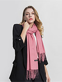 cheap Women's Scarves-Women's Party / Holiday Rectangle - Solid Colored Tassel