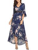 baratos Vestidos de Mulher-Mulheres Solto balanço Vestido Assimétrico