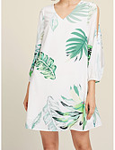 povoljno Ženske haljine-Žene A kroj Haljina V izrez Mini