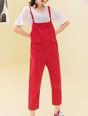 cheap Men's Shirts-Women's Active Plus Size Cotton Chinos Pants - Solid Colored Black & White, Tassel Black