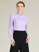 זול סוודרים לנשים-אחיד - סוודר שרוול פנס פעיל / בסיסי בגדי ריקוד נשים