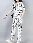 ieftine Costum Damă Două Bucăți-Pentru femei Chinoiserie / Sofisticat Set - Dungi, Pantaloni